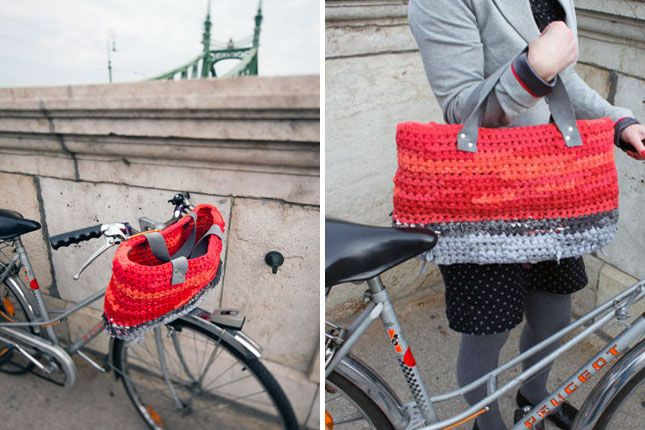 Convertible Crocheted Basket + Bag | 15 Bike Baskets and Panniers
