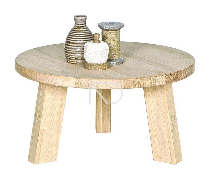 Stolik kawowy RHONDA 60 dębowy - Woood - Nordic Decoration Home