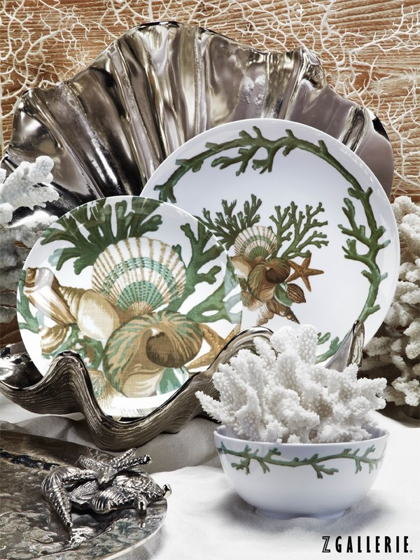 Z Gallerie brings the beach to you with sea-inspired Del Mar Dinnerware! & 33 best Coastal Dinnerware images on Pinterest | At the beach Dish ...