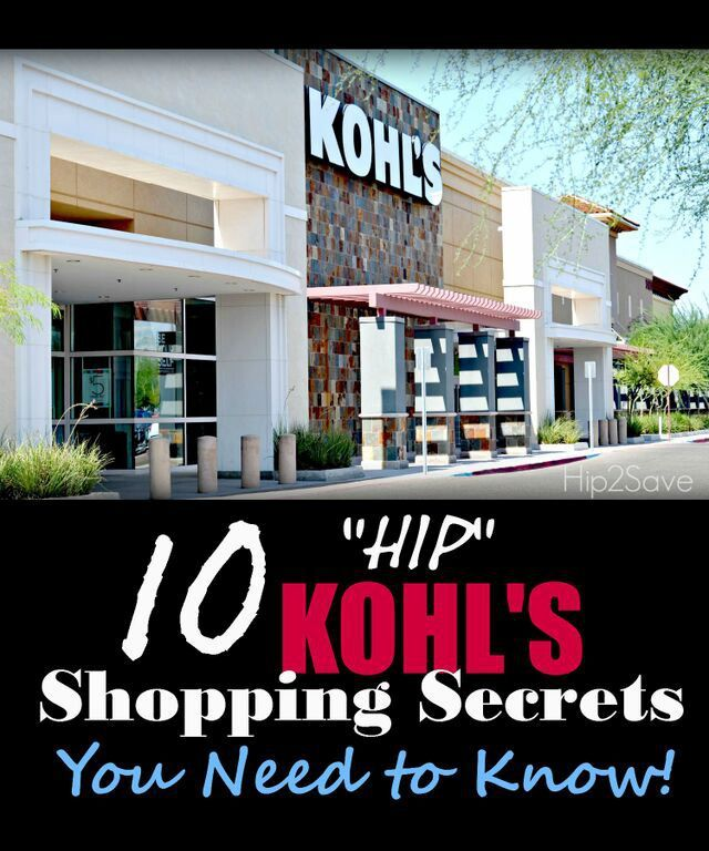 """10 """"HIP"""" Kohl's Shopping Secrets You Need to Know"""