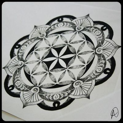 sacred geometry tattoo flower of life - Yahoo Search Results