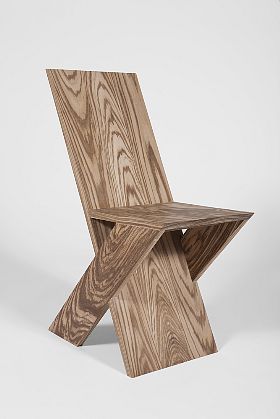 Michael Boyd, PLANKseries sidechair in zebrawood, 2011.