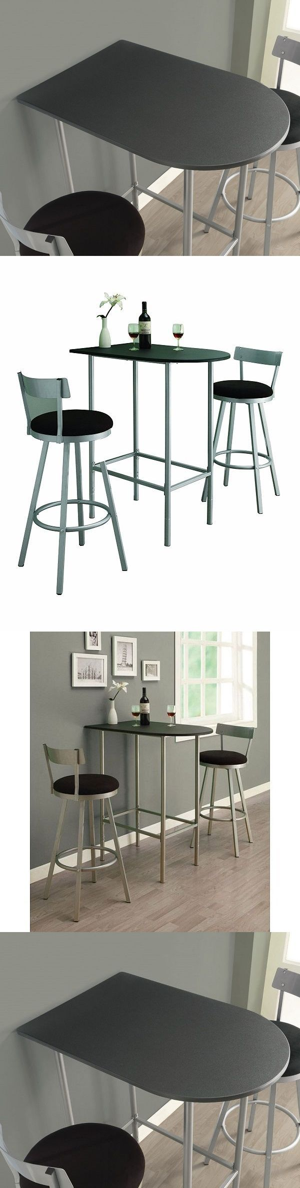 Dining Sets 107578: Small Counter Height Dining Table Only Space Saver Bar Apartment Kitchen Pub End -> BUY IT NOW ONLY: $98.99 on eBay!