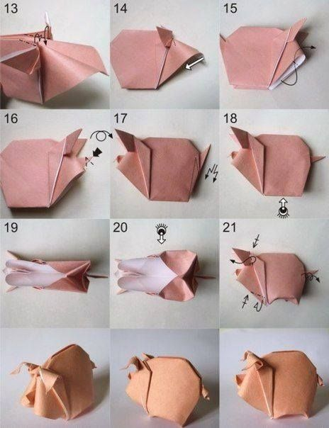 To do origami pig | Crafts and Gifts | Pinterest - photo#33