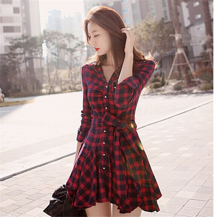 #aliexpress, #fashion, #outfit, #apparel, #shoes 2016, #New, #Spring, #Fashion, #Women, #Losse, #Plaid, #Dress, #Sexy, #Irregular, #Long, #Sleeve, #Shirt, #For, #Women, #Summer, #Style http://s.click.aliexpress.com/e/Z3vBeyrVR