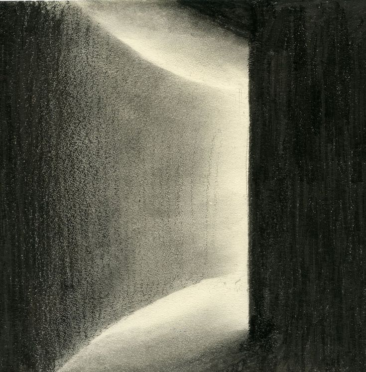 This drawing shows a good example of shadow and light contrast and its gradient using charcoal as a medium. It is quite effective as instead of outlining the gradient, this drawing probably used some eraser to highlight that diminishing effect.