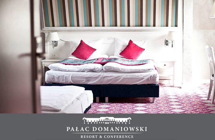 Wnętrza apartamentów w pałacu Domaniowski