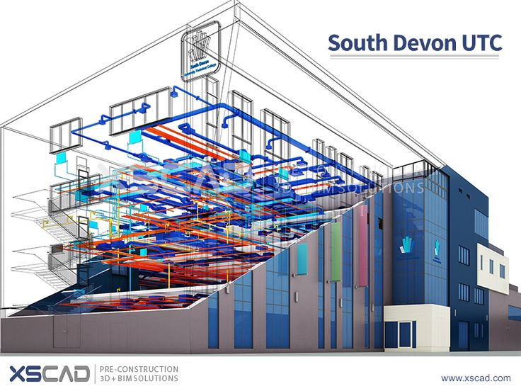 South Devon UTC, situated in England, UK, accommodates 600 students who study engineering and science. The unique building design provides 8 specialist engineering workshops, 7 science laboratories as well as ICT and general teaching space.  XS CAD worked with an MEP contractor to create detailed installation drawings for mechanical, electrical and plumbing services using Revit MEP from the Building Design Suite software of Autodesk. Read http://www.xscad.com/our-work/south-devon-utc/