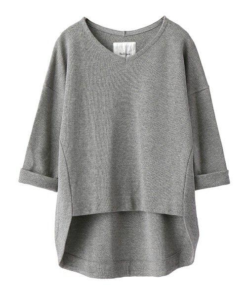 The Virgnia(ザ ヴァージニア)のミラノテールカットプルオーバー(Tシャツ/カットソー)|グレー