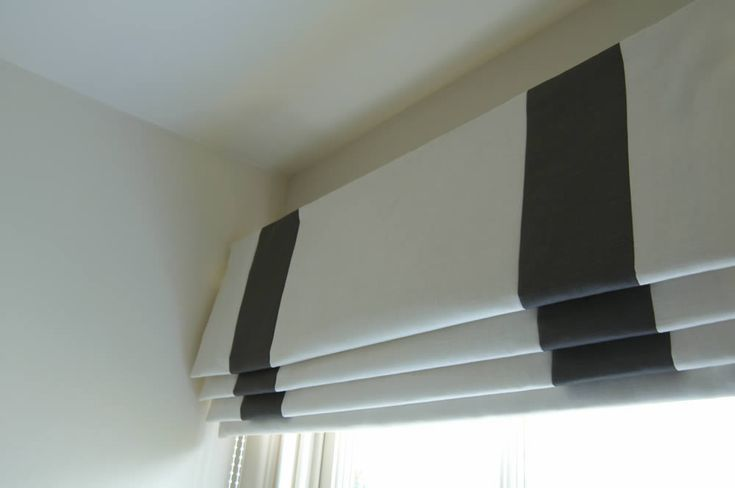 Roman blind with Inset Side and Bottom Borders