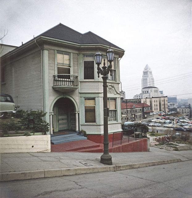 BH112 City Hall from Bunker Hill, Los Angeles - Late 1950s.  This copyrighted photograph was taken by George Mann of the comedy dance team, Barto & Mann.jpg by richardschave, via Flickr
