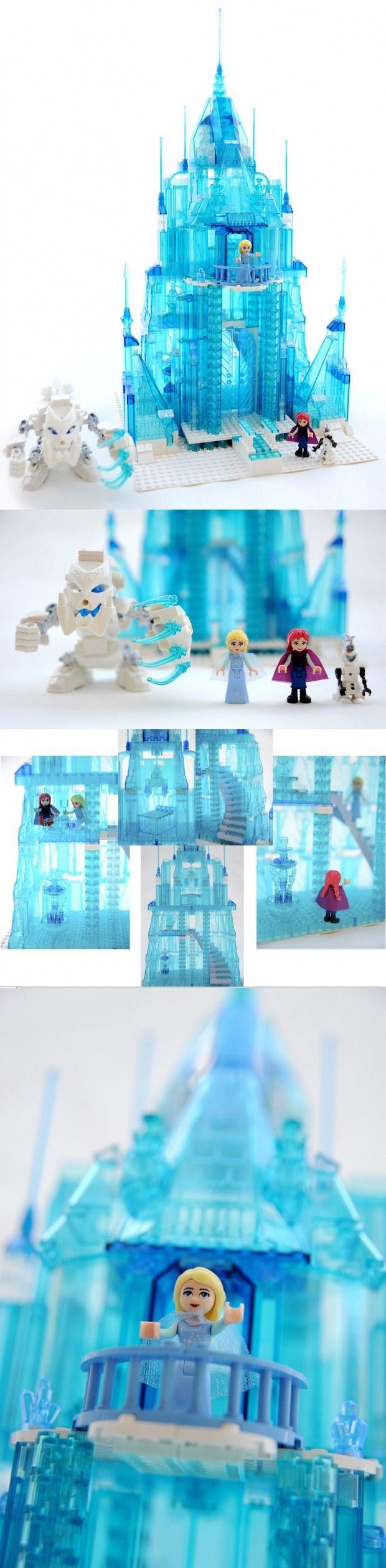 93 Best Legos Images On Pinterest Lego Projects Creations Hard Drive Circuit Board Desk Clock Livbit Frozen Elsas Ice Palace