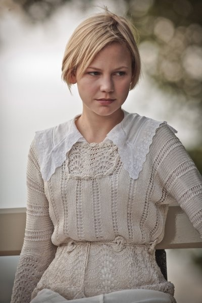 Love the knit blouse and lace collar!  (Adelaide Clemens in Parade's End)
