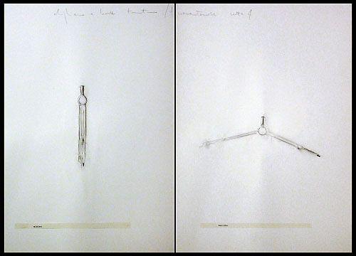 Alighiero Boetti    Minimum-Maximum, 1974  Pencil, collage & frottage on paper, 50 x 70 cm