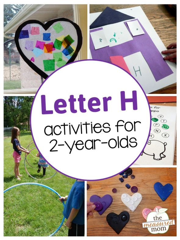 Letter H Activities for 2-year-olds