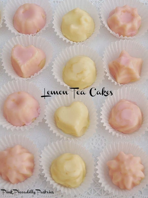 Pink Piccadilly Pastries: Fabulous Lemon Tea Cakes - Easy too!