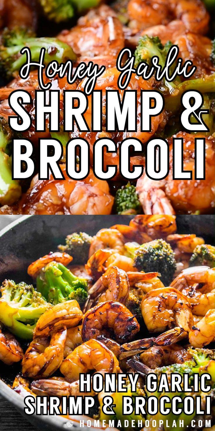 Jul 4, 2020 – Honey Garlic Shrimp and Broccoli! Browned honey garlic shrimp with tender broccoli – a super easy dinner t…
