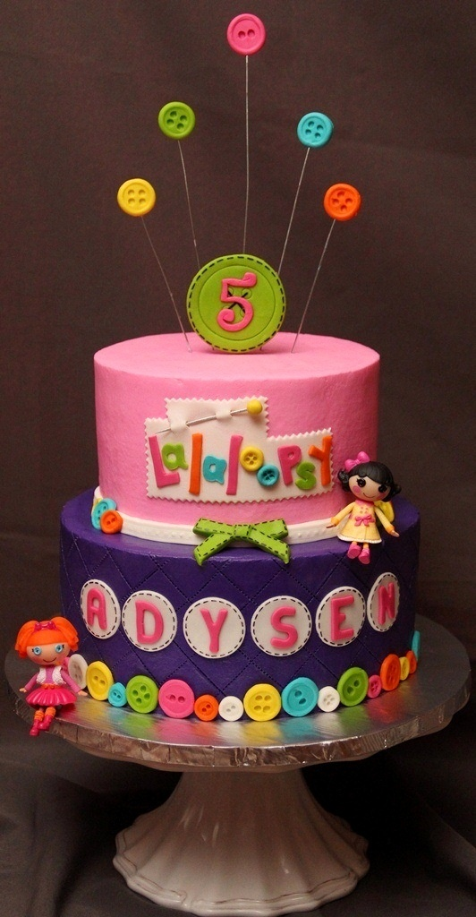 Adysen's 5th - Adysen's 5th Lalaloopsy themed cake