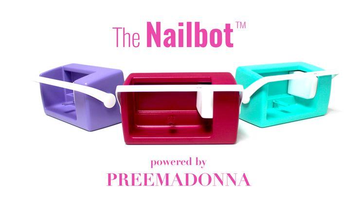 The Nailbot prints custom nail art on your nails in 5 seconds! Amazing!! #nailart #nails #nailpolish