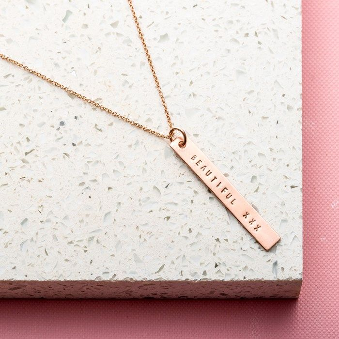 Personalised Posh Totty Designs Bar Necklace | GettingPersonal.co.uk