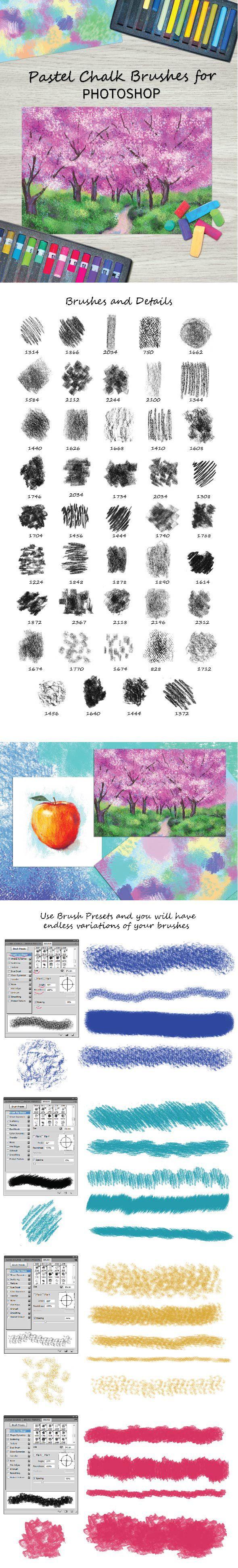 Pastel Chalk Brushes for Photoshop - Brushes Photoshop
