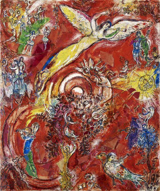 Marc Chagall, Le Triomphe de la Musique, 1966 - Maquette définitive pour la peinture murale du Metropolitan Opera de New York