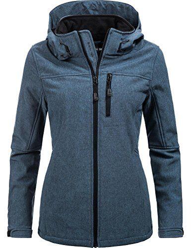 2c35c9efc49b Peak Time Damen Übergangs-Jacke Softshelljacke L60028 Blau Gr. 46. Der  Style  Sportliche Damen Softshell Übergangs Jacke mit abnehmbarer Kap…