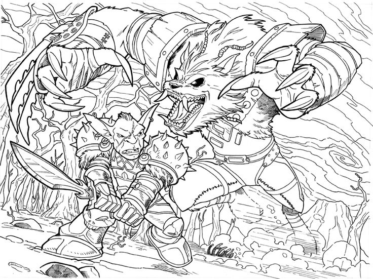 worldof warcraft coloring pages - photo#16