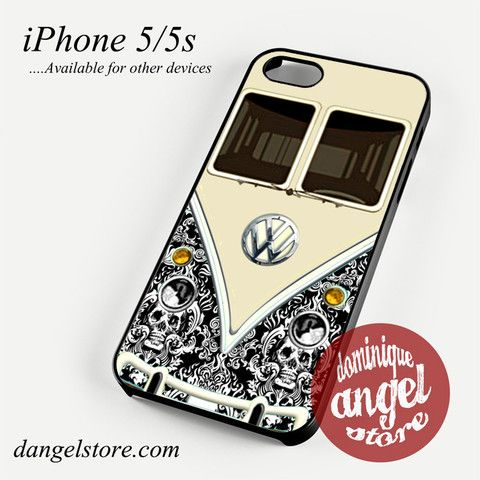black damask vw retro bus Phone case for iPhone 4/4s/5/5c/5s/6/6 plus
