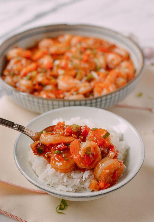 Szechuan Shrimp recipe, by thewoksoflife.com