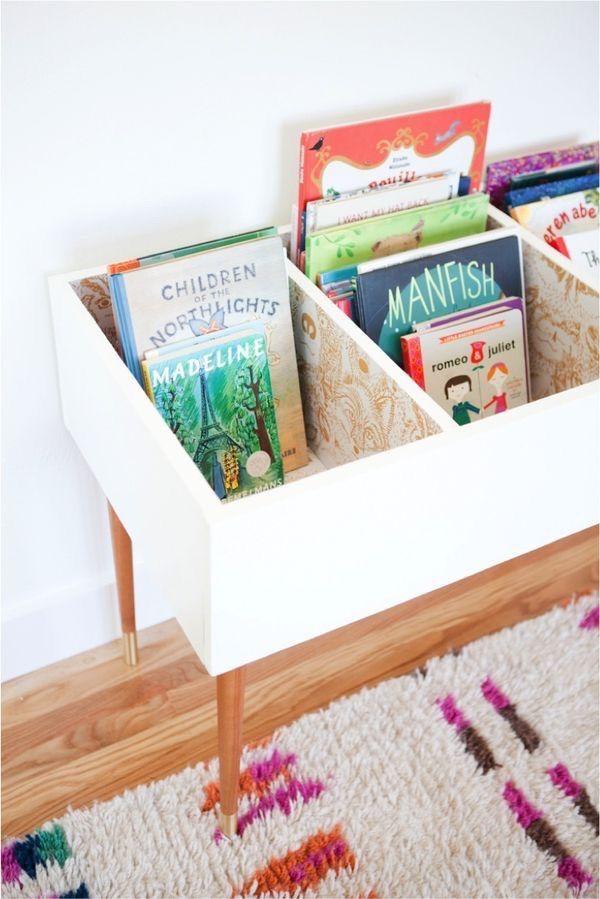 Voici cinq solutions pour faciliter le rangement des affaires de vos kids: jouets, livres, doudous trouveront plus facilement leur place.