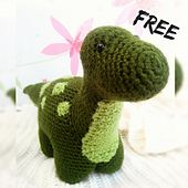 Free crochet amigurumi pattern. Meet Dexter, my little green dinosaur. He stands 6,7 inches (17cm) tall, and he is 13 inches (33cm) long. If you want to make him, here is what you need: