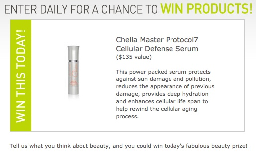 June 1 - Today's 365 Days of Beauty Giveaway: Help rewind your cellular aging process with Chella Master Protocol7 Cellular Defense Serum valued at $135! Click to win now!Eye Cream, Beautiful Giveaways, Today 365, Beauty Products, Click, Serum Values, Blog, Nb Contest, Beautiful Products