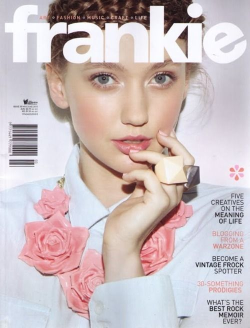 Frankie Magazine -   - Focus on independent design - Has a 'cute', 'kitsch', 'whimsical' aesthetic - some of the more feminine designs (e.g. the Vovo tee) would fit well within this context