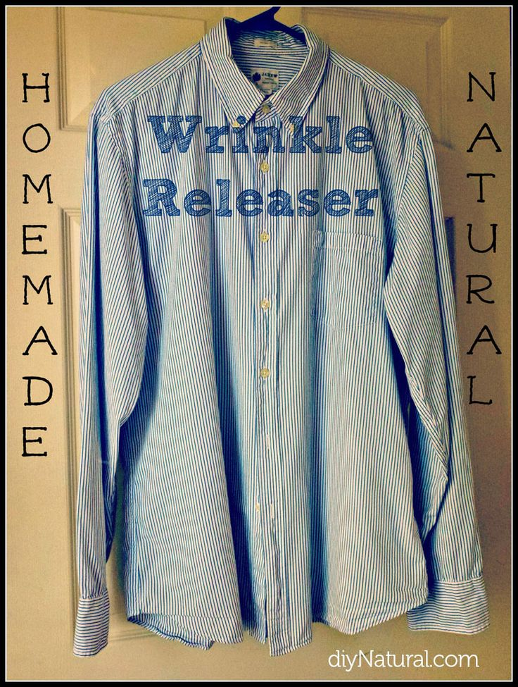 Wrinkle Releaser Spray that is Homemade and Natural.