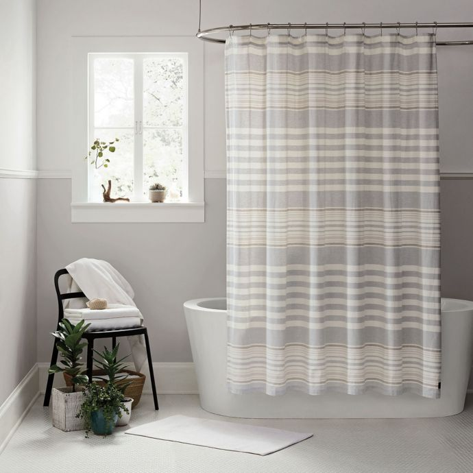 Ugg Lunar Stripe Shower Curtain In Seal Bed Bath Beyond