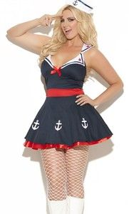 Cute plus size Navy Sailor outfit! So cute for Halloween!