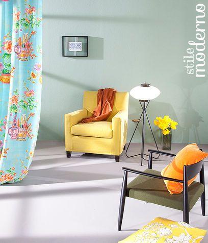 Arredamento moderno dai colori accesi