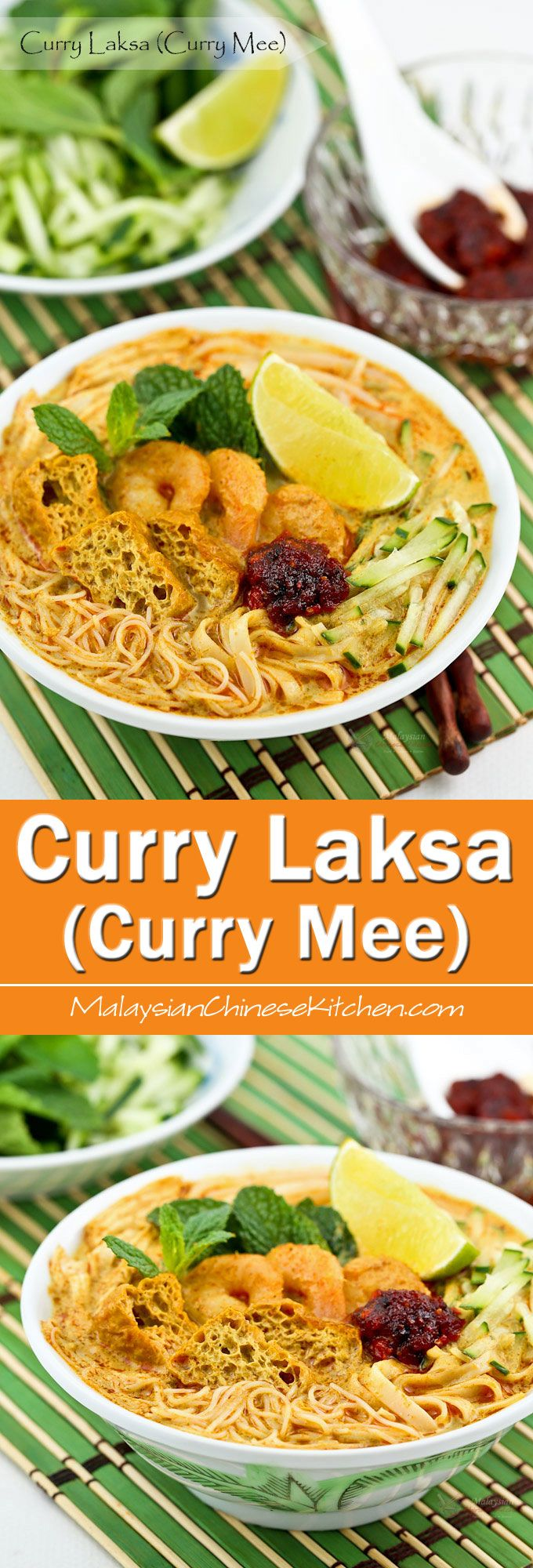 Curry Laksa (Curry Mee) is a delicious spicy curried noodle soup with a variety of toppings. This is my family's version found mainly in the Klang…