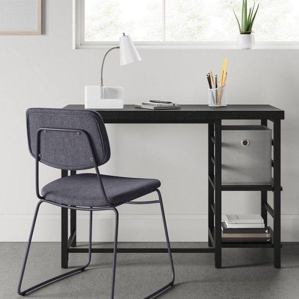 Adjustable Storage Desk Black Room Essentials Black Desk Desk Storage Desks For Small Spaces