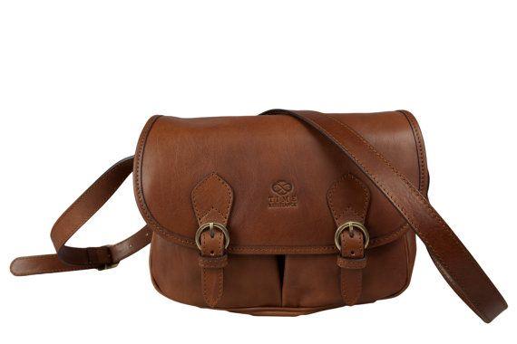 Womens Brown Leather Crossbody Bag  Shoulder Bag