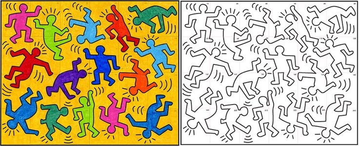 Keith Haring - (1958 – 1990) was an artist and social activist whose work responded to the New York City street culture of the 1980s. By expressing concepts of birth, death, sex and war, Haring's imagery has become a widely recognized visual language of the 20th century.