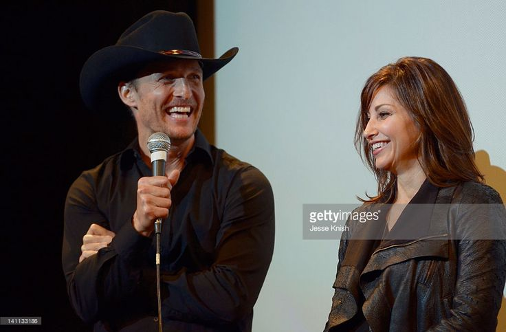 Actors Matthew McConaughey and Gina Gershon speak onstage at 'Killer Joe' Q&A during the 2012 SXSW Music, Film + Interactive Festival at Paramount Theater on March 10, 2012 in Austin, Texas.