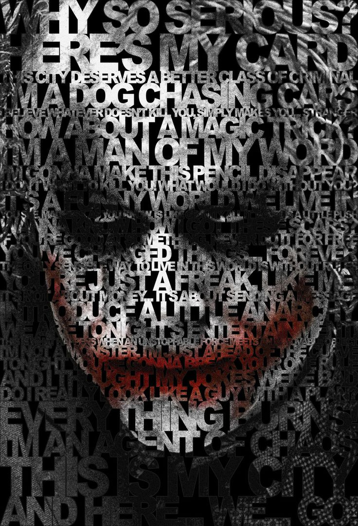 I chose this graphic because I like how all his quotes make up his face.  It also shows, in a way, his madness by how cluttered all his quotes are put together.