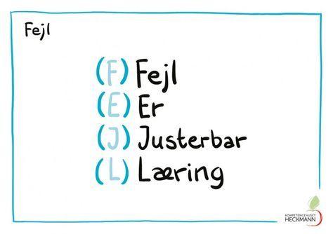 Det er så utrolig rigtigt, så det må vi hellere huske: Fejl er justerbar læring