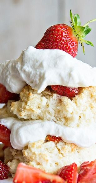 Homemade Strawberry Shortcake with Grand Marnier Whipped Cream - Dine and Dish
