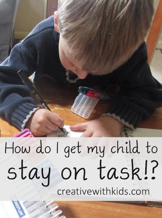 Ideas for getting a child to focus - Reader question: What are some trick for helping a student stay on task for work you know they're capable of doing on their own? I hate feeling like I have to nag, nag, nag to get him to work!