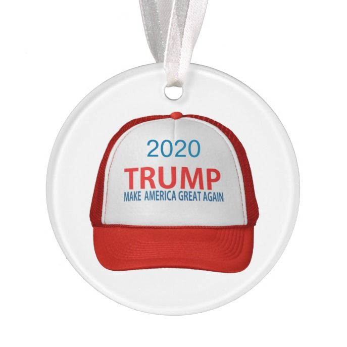 make america great again 2020 red hat collectible ornament create diy custom christmas