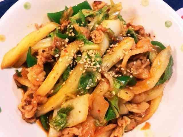 ご飯がすすむ♥白菜と豚肉のキムチ炒め~♥の画像