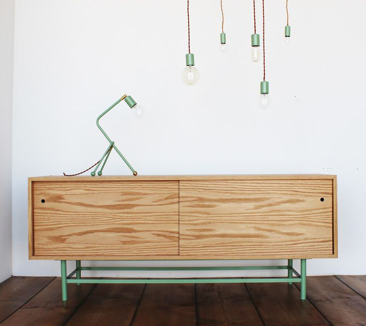 mint green powder-coat from One Forty Three and their fabulous lamp/light fixtures